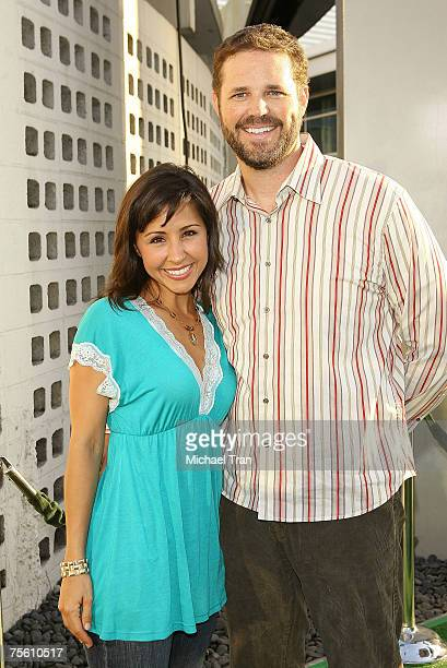 Actress Nikki Boyer and Actor David Denman arrives at the Who's Your Caddy Los Angeles Premiere at Arclight Cinemas on July 23 2007 in Hollywood...