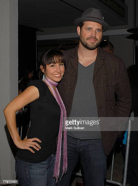 Actress Nikki Boyer and actor David Denman attend the Rock the Vote event at Kitson on November 13 2007 in West Hollywood California