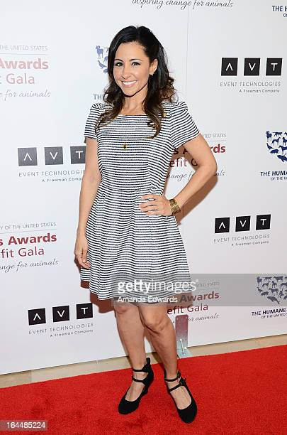 Actress Nikki Boyer arrives at The Humane Society's 2013 Genesis Awards Benefit Gala at The Beverly Hilton Hotel on March 23 2013 in Beverly Hills...