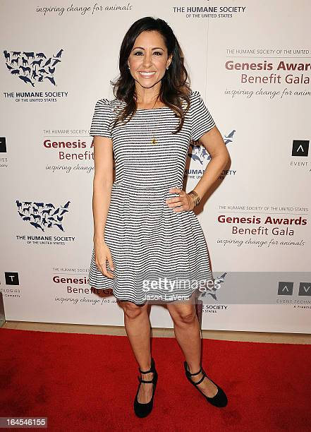 Actress Nikki Boyer attends The Humane Society's 2013 Genesis Awards benefit gala at the Beverly Hilton Hotel on March 23 2013 in Beverly Hills...