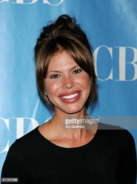 Actress Nikki Cox arrives at the 2008 CBS UpFront at Carnegie Hall on May 14 2008 in New York City