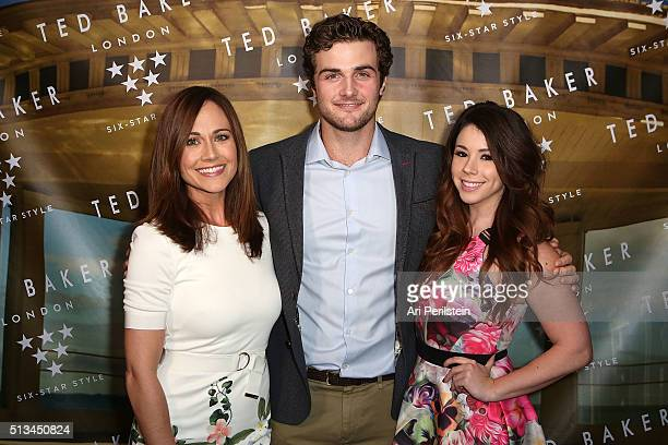 Actress Nikki Deloach Actor Beau Mirchoff and Actress Jillian Rose Reed arrives at Ted Baker London SS'16 Launch Event at Sunset Tower Hotel on March...
