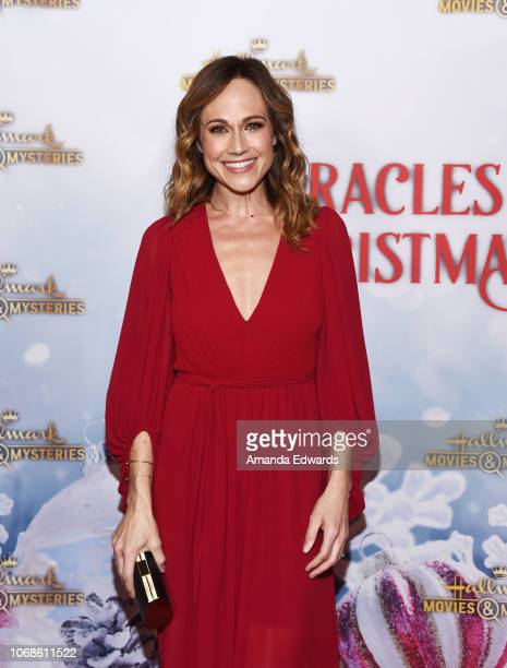 Actress Nikki DeLoach arrives at the Hallmark Channel 'Once Upon A Christmas Miracle' screening and holiday party at 189 by Dominique Ansel on...