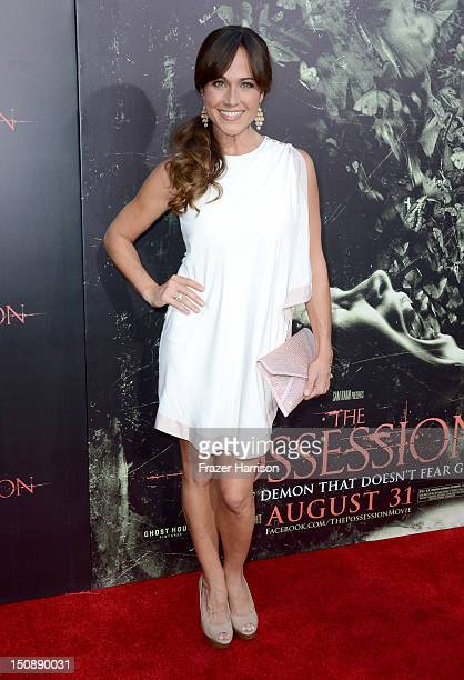 Actress Nikki DeLoach arrives at the premiere of Lionsgate Films' The Possession at ArcLight Cinemas on August 28 2012 in Hollywood California