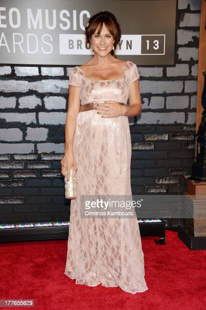 Actress Nikki DeLoach attends the 2013 MTV Video Music Awards at the Barclays Center on August 25 2013 in the Brooklyn borough of New York City