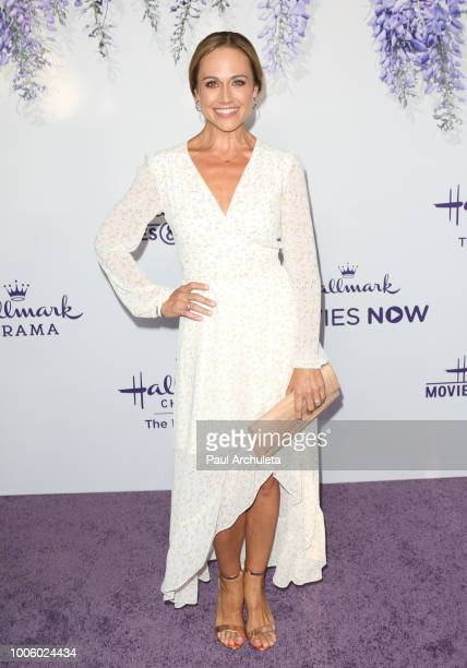 Actress Nikki DeLoach attends the 2018 Hallmark Channel Summer TCA at Private Residence on July 26 2018 in Beverly Hills California