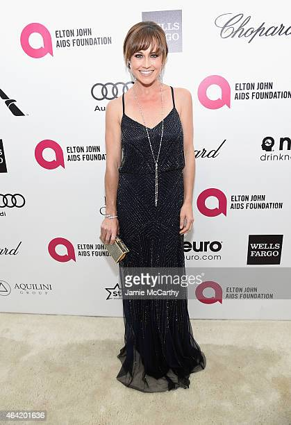 Actress Nikki DeLoach attends the 23rd Annual Elton John AIDS Foundation Academy Awards Viewing Party on February 22 2015 in Los Angeles California