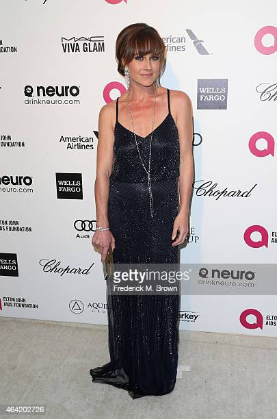 Actress Nikki DeLoach attends the 23rd Annual Elton John AIDS Foundation's Oscar Viewing Party on February 22 2015 in West Hollywood California