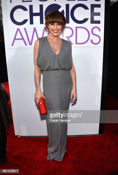 Actress Nikki DeLoach attends The 40th Annual People's Choice Awards at Nokia Theatre LA Live on January 8 2014 in Los Angeles California