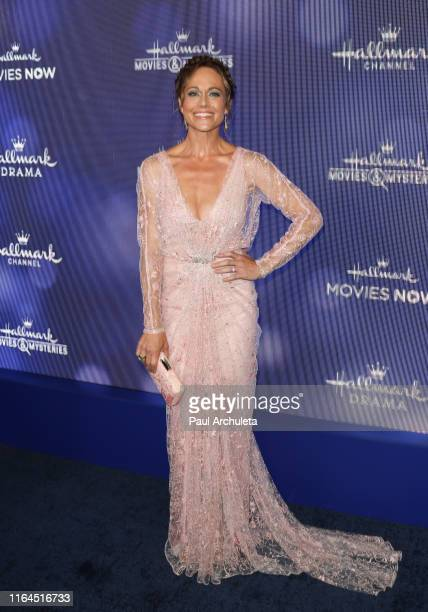 Actress Nikki DeLoach attends the Hallmark Channel and Hallmark Movies Mysteries summer 2019 TCA press tour event at Private Residence on July 26...