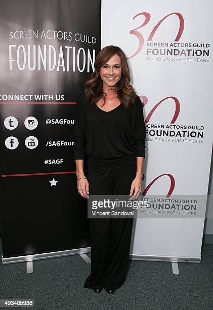 Actress Nikki Deloach attends The SAG Foundation's Conversations series presents MTV's Awkward at SAG Foundation Actors Center on October 19 2015 in...