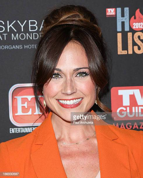 Actress Nikki Deloach attends the TV Guide Magazine Hot List Party at SkyBar at the Mondrian Los Angeles on November 12 2012 in West Hollywood...