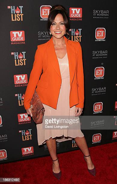 Actress Nikki Deloach attends TV Guide Magazine's 2012 Hot List Party at SkyBar at the Mondrian Los Angeles on November 12 2012 in West Hollywood...