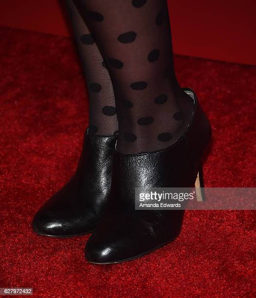 Actress Nikki DeLoach shoe detail arrives at a screening of Hallmark Channel's 'A Nutcracker Christmas' at The Grove on December 5 2016 in Los...