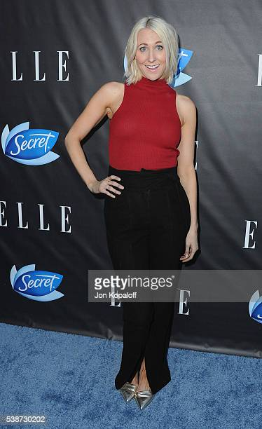 Actress Nikki Glaser arrives at ELLE Hosts Women In Comedy Event With July Cover Stars Leslie Jones Melissa McCarthy Kate McKinnon And Kristen Wiig...