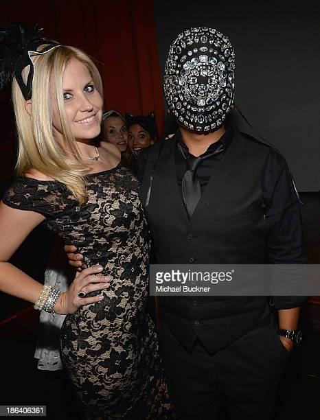 Actress Nikki Griffin and Rembrandt Flores attend The 1st Annual UNICEF Masquerade Ball in Los Angeles at Hollywood Forever on October 30 2013 in...