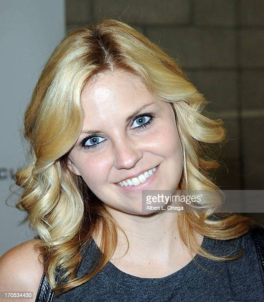 Actress Nikki Griffin participates in the 2013 E3 Electronic Entertainment Expo at The Los Angeles Convention Center on June 13 2013 in Los Angeles...