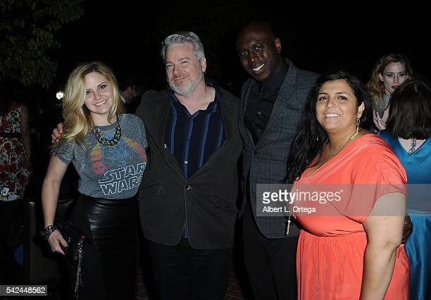 Actress Nikki Griffin writer David E Williams director Joe Braswell and producer Lola Autaubo at the 42nd Annual Saturn Awards After Party held at...