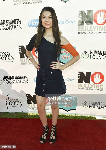 Actress Nikki Hahn attends the Say NO Bullying Festival at Griffith Park on August 13 2016 in Los Angeles California