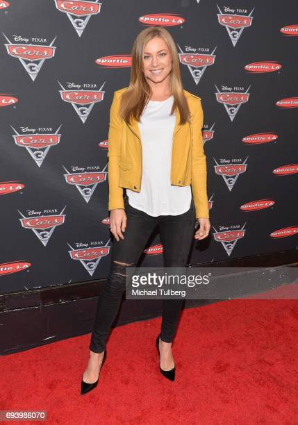 Actress Nikki Leigh attends Disney's Cars x Sportie LA Event at Sportie LA on June 8 2017 in Los Angeles California