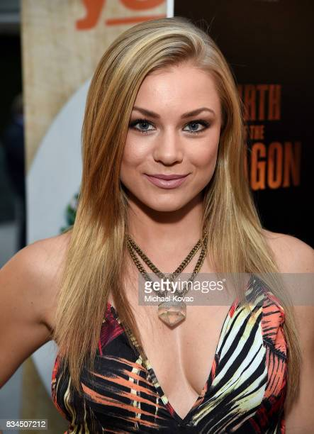 Actress Nikki Leigh attends the Los Angeles special screening of Birth of the Dragon at ArcLight Cinemas on August 17 2017 in Hollywood California