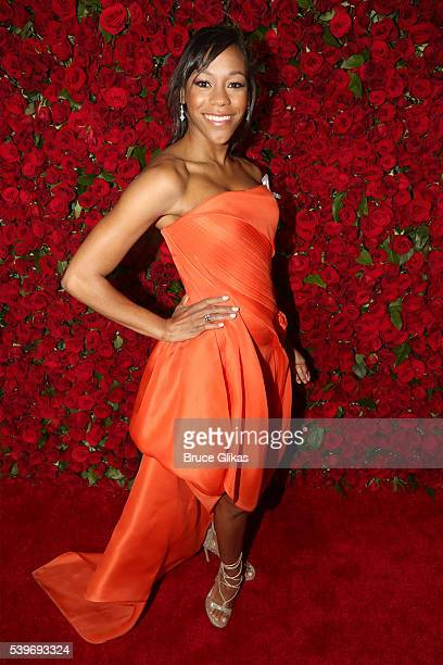 Actress Nikki M James attends 70th Annual Tony Awards Arrivals at Beacon Theatre on June 12 2016 in New York City