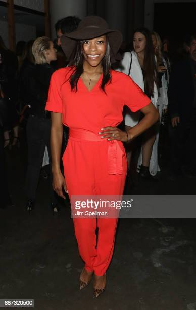 """Actress Nikki M. James attends the screening after party for """"Baywatch"""" hosted by The Cinema Society at Mr. Purple on May 22, 2017 in New York City."""