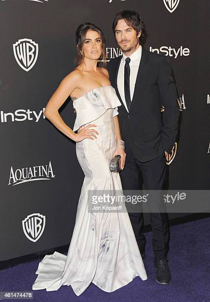 Actress Nikki Reed and actor Ian Somerhalder arrive at the 16th Annual Warner Bros. And InStyle Post-Golden Globe Party at The Beverly Hilton Hotel...