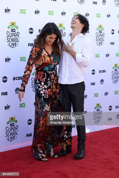 Actress Nikki Reed and actor Ian Somerhalder arrive at the EIF Presents XQ Super School Live event at The Barker Hanger on September 8 2017 in Santa...