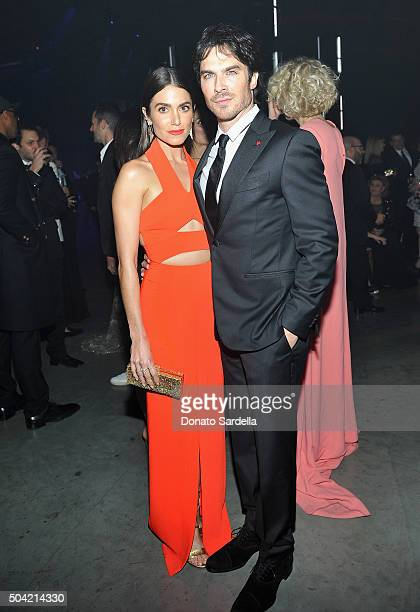 Actress Nikki Reed and actor Ian Somerhalder attend The Art of Elysium 2016 HEAVEN Gala presented by Vivienne Westwood Andreas Kronthaler at 3LABS on...