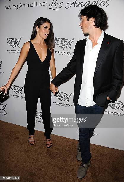 Actress Nikki Reed and actor Ian Somerhalder attend The Humane Society of The United States' To The Rescue gala at Paramount Studios on May 07 2016...