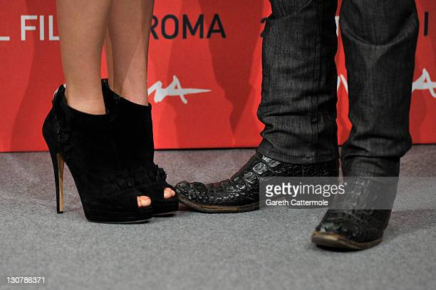 """Actress Nikki Reed and actor Jackson Rathbone attend the """"The Twilight Saga: Breaking Dawn - Part 1"""" Photocall during the 6th International Rome Film..."""