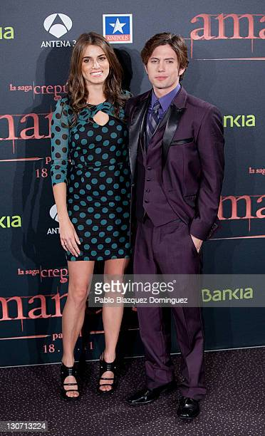 Actress Nikki Reed and actor Jackson Rathbone attend 'The Twilight Saga Breaking Dawn Part 1' Premiere at Kinepolis Cinema on October 28 2011 in...