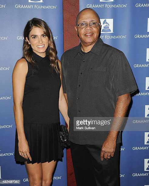 Actress Nikki Reed and David Sears Executive Education Director of Grammy in the Schools attend the GRAMMY Camp LA Launch Party held at the El Rey...