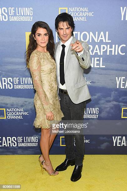 Actress Nikki Reed and husband actor Ian Somerhalder attend National Geographic's 'Years Of Living Dangerously' new season world premiere at the...