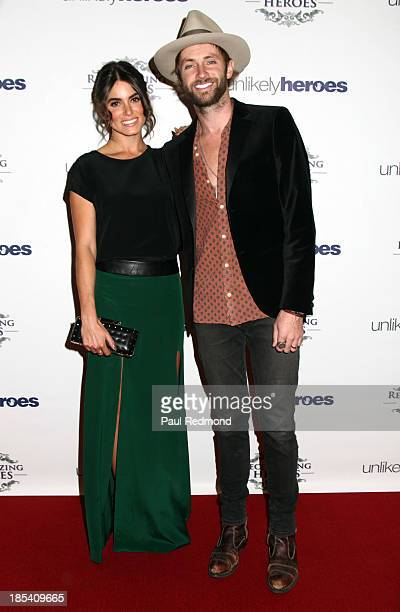 Actress Nikki Reed and husband singer Paul McDonald attends 'Unlikely Heroes' Recognizing Heroes Awards Dinner and Gala at The Living Room at The W...