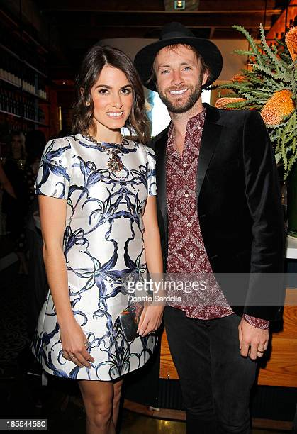 Actress Nikki Reed and musician Paul McDonald attend Vogue's Triple Threats dinner hosted by Sally Singer and Lisa Love at Goldie's on April 3 2013...