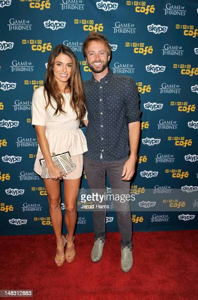 Actress Nikki Reed and musician Paul McDonald attend WIRED Cafe At ComicCon held at Palm Terrace at the Omni Hotel on July 13 2012 in San Diego...