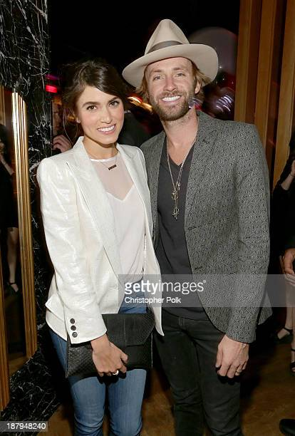 Actress Nikki Reed and singer/songwriter Paul McDonald attend the Stand Up For Gus Benefit at Bootsy Bellows on November 13 2013 in West Hollywood...