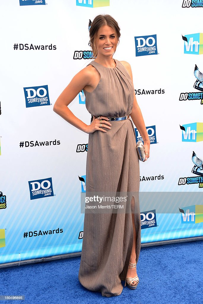 Actress Nikki Reed arrives at the 2012 Do Something Awards at Barker Hangar on August 19, 2012 in Santa Monica, California.