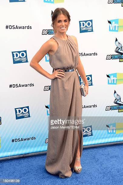 Actress Nikki Reed arrives at the 2012 Do Something Awards at Barker Hangar on August 19 2012 in Santa Monica California
