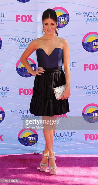 Actress Nikki Reed arrives at the 2012 Teen Choice Awards at Gibson Amphitheatre on July 22 2012 in Universal City California