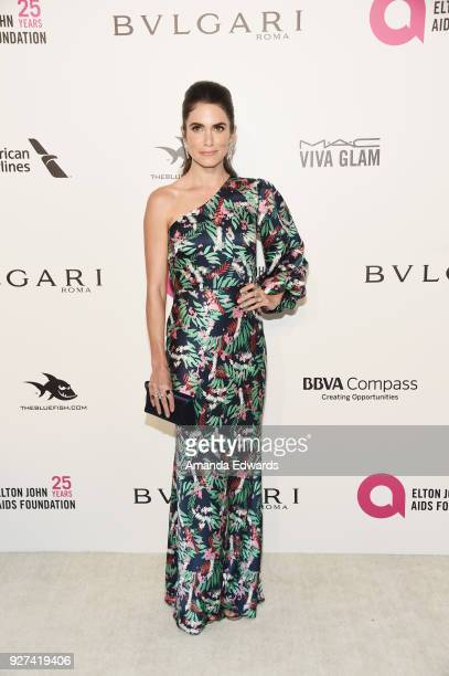 Actress Nikki Reed arrives at the 26th Annual Elton John AIDS Foundation's Academy Awards Viewing Party on March 4 2018 in West Hollywood California