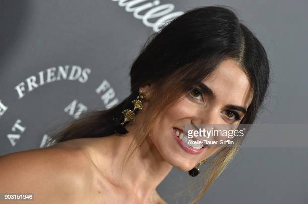 Actress Nikki Reed arrives at The Art of Elysium's 11th Annual Celebration Heaven at Barker Hangar on January 6 2018 in Santa Monica California
