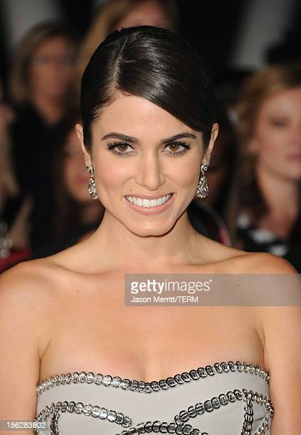 Actress Nikki Reed arrives at the premiere of Summit Entertainment's The Twilight Saga Breaking Dawn Part 2 at Nokia Theatre LA Live on November 12...