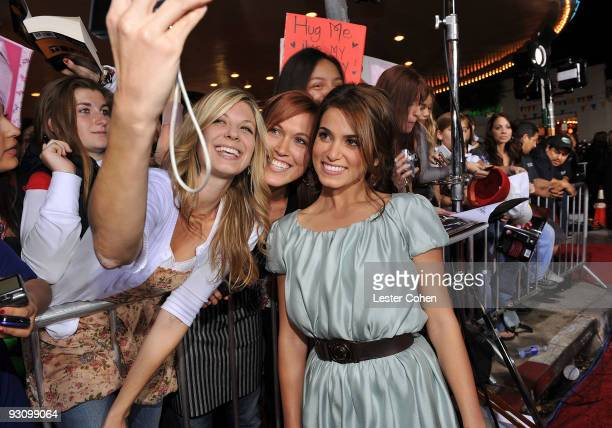 Actress Nikki Reed arrives at the premiere of Summit Entertainment's 'The Twilight Saga New Moon' on November 16 2009 in Westwood California