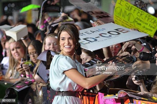 Actress Nikki Reed arrives at The Twilight Saga New Moon premiere held at the Mann Village Theatre on November 16 2009 in Westwood California