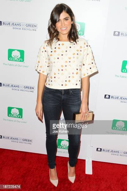 Actress Nikki Reed attends Blue Jeans go green celebrates 1 Million pieces of denim collected for recycling hosted by Miles Teller at SkyBar at the...