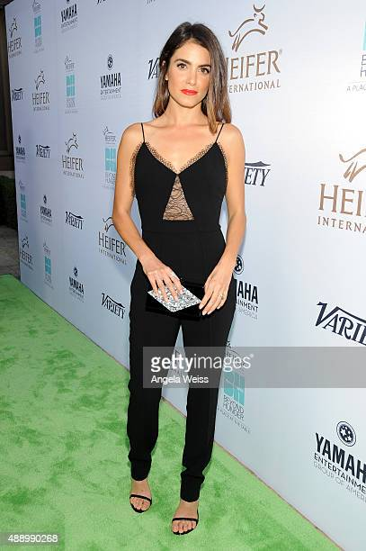 Actress Nikki Reed attends Heifer International's 4th Annual Beyond Hunger Gala at the Montage on September 18 2015 in Beverly Hills California...