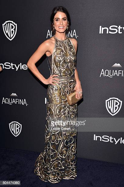 Actress Nikki Reed attends InStyle and Warner Bros 73rd Annual Golden Globe Awards PostParty at The Beverly Hilton Hotel on January 10 2016 in...